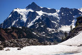 Snowfields Artist Point Glaciers Mount Shuksan Washington State — Стоковое фото