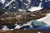 Small Reflection Pool Mount Shuksan Artist Point Washington Stat — Stock Photo