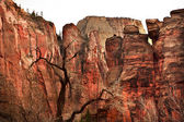 Great White Throne Red Rock Walls Zion Canyon National Park Utah — Stock Photo