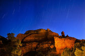 Boynton Red Rock Canyon Star Trials Night Sedona Arizona — Stock Photo