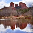 Cathedral Rock Canyon Oak Creek Reflection Sedona Arizona — Stock Photo