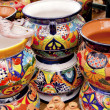 Mexican Colorful Souvenir Ceramic Pots Sedona Arizona - Stock Photo
