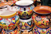 Mexican Colorful Souvenir Ceramic Pots Sedona Arizona — Stock Photo