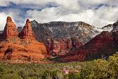 The Nuns Orange Red Rock Canyon Sedona Arizona — Stock Photo