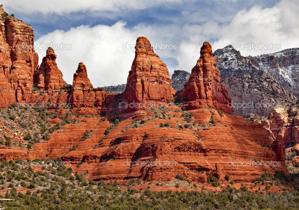 Madonna And Nuns Orange Red Rock Canyon Sedona Arizona