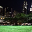 Bryant Park New York City Skyline  Night - Stock Photo