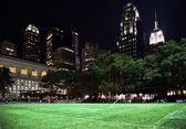 Bryant Park New York City Skyline Night — Stock Photo