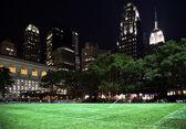 Bryant Park New York City Skyline Night — Stock Photo