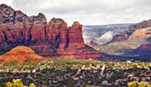 Coffee Pot Rock Sugarloaf Orange Red Rock Canyon West Sedona Ari — Stock Photo