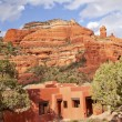 Boynton Red Rock Canyon Building Blue Skies Sedona Arizona - Stock Photo