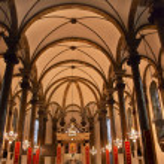 St. Joseph Church Wangfujing Cathedral Interior Basilica Beijing — Stock Photo