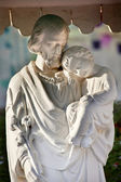 St. Joseph Baby Jesus Statue Wangfujing Cathedral Beijing China — Stock Photo