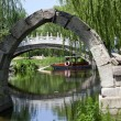 Stock Photo: Canqiao Ruined Bridge Yuanming YuOld Summer Palace Willows Be