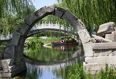 Canqiao Ruined Bridge Yuanming Yuan Old Summer Palace Willows Be — Stock Photo