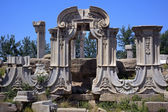 Ancient Gate Ruins Pillars Old Summer Palace Yuanming Yuan Old B — Stock Photo