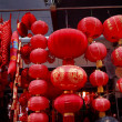 Chinese Red Lanterns Decorations Yuyuan Shanghai China — Stock Photo