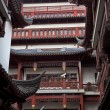 Old Shanghai Builings Red Roofs Yuyuan Garden Reflections China — Stock Photo