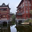 Old Shanghai Builings Yuyuan Garden Reflections China — Stock Photo