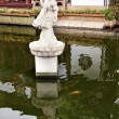 Woman Statue Shanghai Yuyuan Garden with Reflections China — Stock Photo
