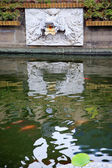 Dragon Water Spout Shanghai Yuyuan Garden with Reflections China — Stock Photo
