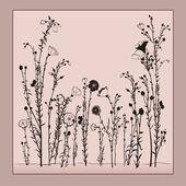Floral card — ストックベクタ