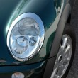 Mini cooper headlight — Stock Photo