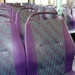 Empty seats on a bus — Stock Photo