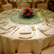 Wedding banquet table setting — Stock Photo