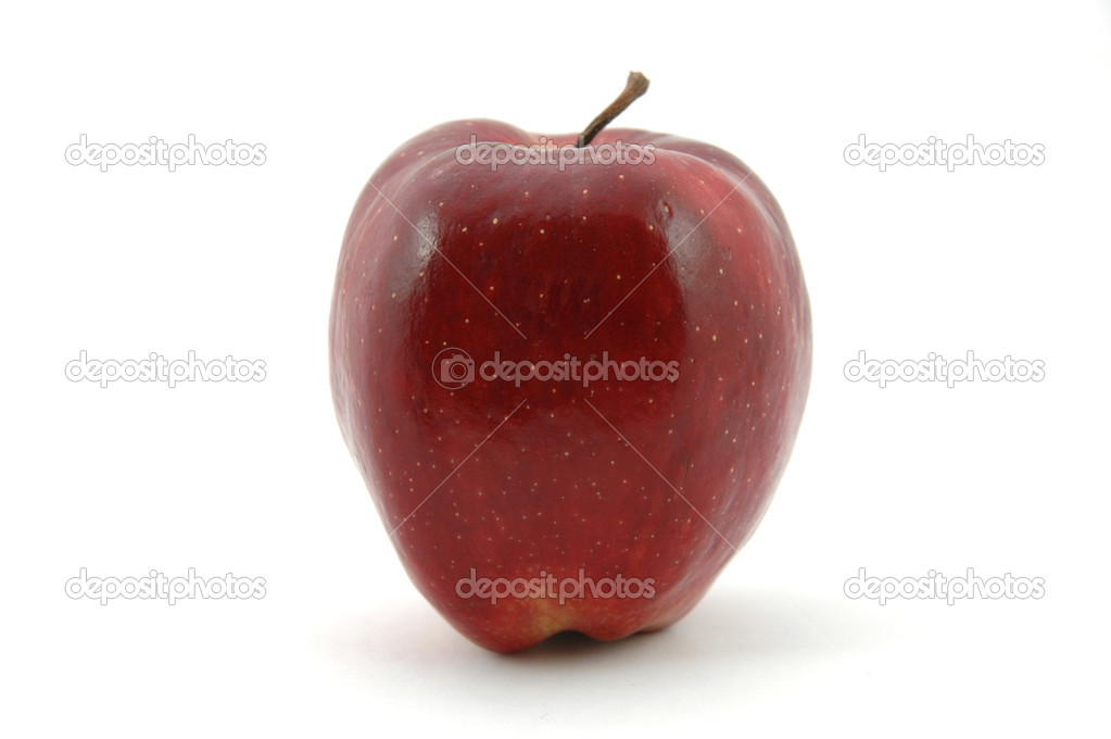 Red apple in isolated white — Stock Photo #6724834