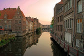 View of the canal in Ghent — Fotografia Stock