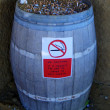 Ashtray-barrel - Stock Photo