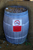 Ashtray-barrel — Stock Photo