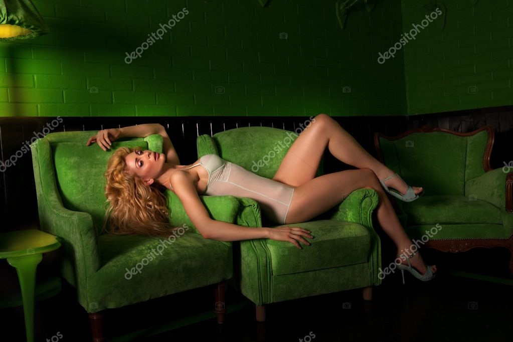 On the chair in a room filled with night shadows — Stock Photo #6071112