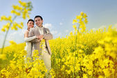Bride and Groom hugging — Stock Photo