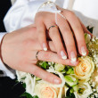 wedding hands — Stock Photo
