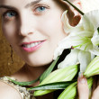 Beauty flower girl  — Stock Photo