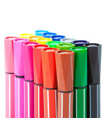 Colored marker pens isolated on white background. — Stock Photo