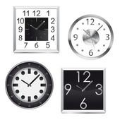 Metal wall clocks — Stock Vector