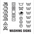 Washing Signs — Stock Vector