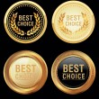 Best choice emblem - Stock Vector