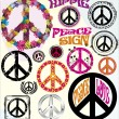 Vetorial Stock : Peace Symbols