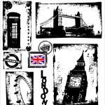 London Landmarks in Grunge Frame — Stock Vector #6027961