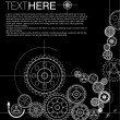 Abstract gears background — Vector de stock #6028439