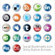 sociale bookmark icons set — Stockvector