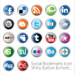 set di icone social bookmark — Vettoriale Stock
