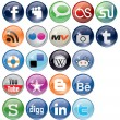Social Bookmark icons Set - Stok Vektör
