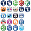 Social Bookmark icons Set - Stock Vector