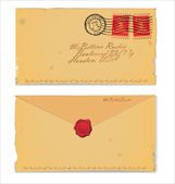 Old Envelope — Stock Vector