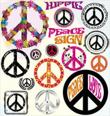 Peace Symbols — Stock Vector