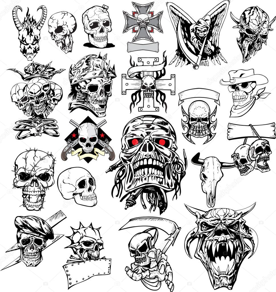 Skull Tattoo 6028640 Royalty Free Stock Photos Illustrations And